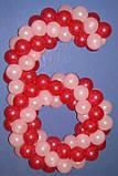 Композиция из шаров Цифра 6, фото 2