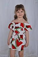 Платье для девочки Арбузики-волан