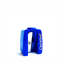 Точилка для косметических карандашей одинарная синяя