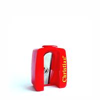 Точилка для косметических карандашей одинарная красная