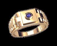 Золотое мужское кольцо Ролекс