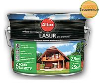 Лазурь-лак алкидный ALTAX LASUR ГЛИБОКОКОНСЕРВУЮЧА для древесины бесцветный, 2,5л
