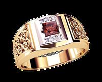 Мужское золотое кольцо Дары Персии