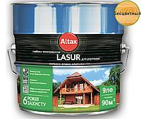 Лазурь-лак алкидный ALTAX LASUR ГЛИБОКОКОНСЕРВУЮЧА для древесины бесцветный, 9л