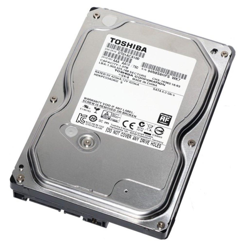 Жесткий диск для компьютера 1 Тб Toshiba, SATA 3, 32Mb, 7200 rpm (DT01