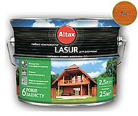 Лазурь-лак алкидный ALTAX LASUR ГЛИБОКОКОНСЕРВУЮЧА для древесины тик, 2,5л
