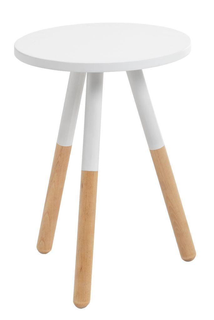Подставка  круглая (тринога табурет )д иаметр 32 см белая, фото 1