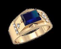 Мужское золотое кольцо Пирамида