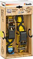 Ремень стяжной с натяжными храповиками и крючками 2,5 м х 25 мм KWB 772222 (2 шт.)