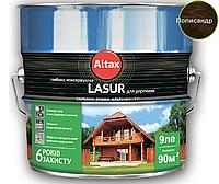 Лазурь-лак алкидный ALTAX LASUR ГЛИБОКОКОНСЕРВУЮЧА для древесины полисандр, 9л