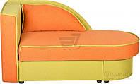 Детская кровать диван раскладная с нишей для белья оранжево-оливковая