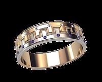 Мужское золотое кольцо Корона