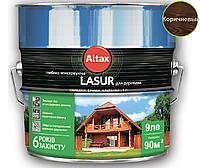 Лазурь-лак алкидный ALTAX LASUR ГЛИБОКОКОНСЕРВУЮЧА для древесины коричневый, 9л