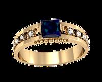 Мужское золотое кольцо Морской камень