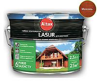 Лазурь-лак алкидный ALTAX LASUR ГЛИБОКОКОНСЕРВУЮЧА для древесины махонь, 2,5л