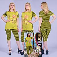 Женский комплект футболка с капри Турция. MODY 15248 Big Size. Размер 50-52.