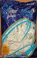 Шарики надувные Италия 26см белые 100шт/уп