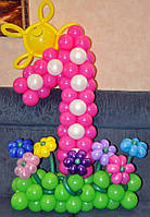 Цифра 1 из шаров латексных-композиция.