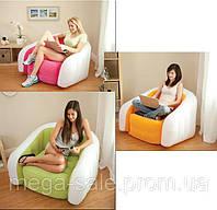 Надувное кресло с мягким покрытием 91х102х65см Cafe Club Chair, 3 цвета