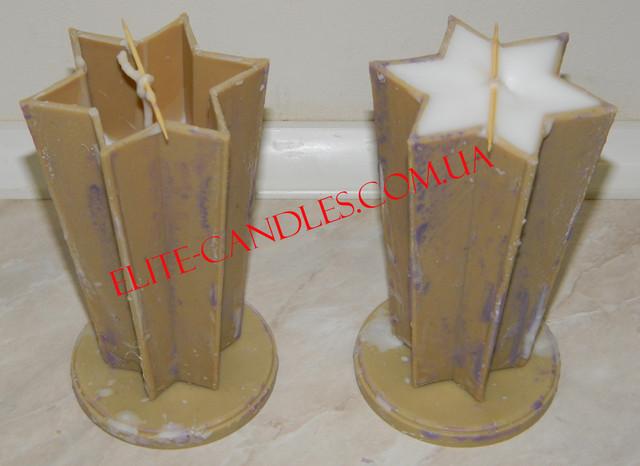 Формы звезды для свечей залитые парафином. Внутри с фитилем.
