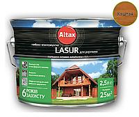 Лазурь-лак алкидный ALTAX LASUR ГЛИБОКОКОНСЕРВУЮЧА для древесины каштан, 2,5л