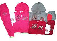 Костюм спортивный-тройка для девочки, размеры 9,104,110,122,128, арт. CJ-1517