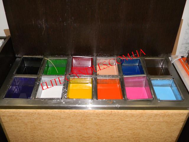 Профессиональное оборудование для резных свечей на 12 цветов.