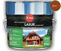 Лазурь-лак алкидный ALTAX LASUR ГЛИБОКОКОНСЕРВУЮЧА для древесины орех, 9л