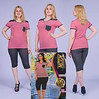 Женский комплект футболка с капри Турция. MODY 10104 Big Size. Размер 50-52.