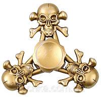 Спиннер (spinner) черепа Золотой