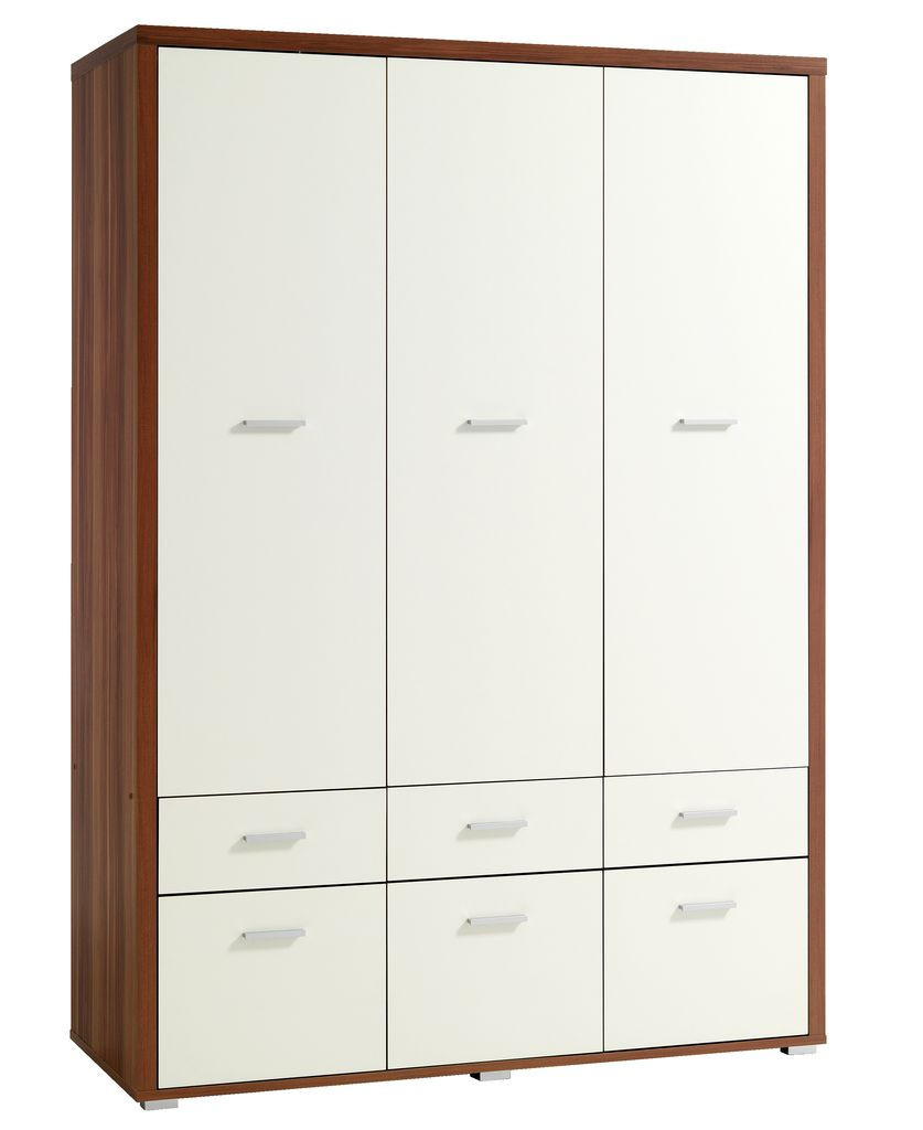 Шкаф 3-х дверный + 6 ящиков (цвет кремовый орех)