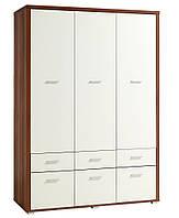 Шкаф 3-х дверный + 6 ящиков (цвет кремовый орех), фото 1