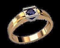 Мужское золотое кольцо со вставкой