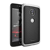 Чехол накладка IPAKY TPU + бампер PC для Motorola Moto G5 Plus серебро