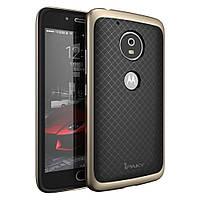 Чехол накладка IPAKY TPU + бампер PC для Motorola Moto G5 Plus золотой