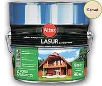Лазурь-лак алкидный ALTAX LASUR ГЛИБОКОКОНСЕРВУЮЧА для древесины белый, 9л