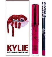 Жидкая матовая помада и карандаш Kylie valentine's collection, фото 1