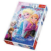Пазлы  Trefl Frozen 14225, Сестры из снежной страны