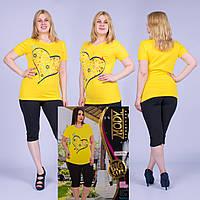 Женский комплект футболка с капри Турция. MODY 15207 Big Size. Размер 50-52.