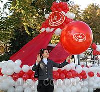 Стилизация воздушными шарами автомобиля под корабль