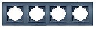 Четверная рамка EL-Bi Zena Colorline синяя