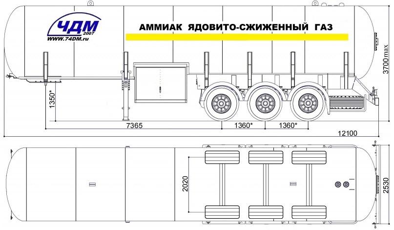 ЧДМ 943813-0000010-01-36А-01 36м3 для перевозка аммиака