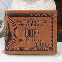 Мужской кошелек, портмоне, бумажник 100 Dollars