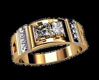 Мужское золотое кольцо На стиле