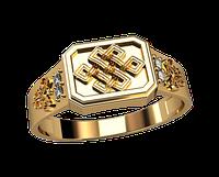 Мужское золотое кольцо Славянские знаки