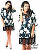 Платье из экокожи с гипюром