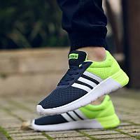 Мужские кроссовки Adidas NEO Blue Green
