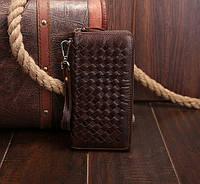 Клатч кожаный коричневый Tiding Bag (JN9075C)