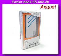 Внешний аккумулятор (power bank) 40000мАч (6000мАч) FS-004-40000!Акция