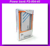 Внешний аккумулятор (power bank) 40000мАч (6000мАч) FS-004-40000!Опт